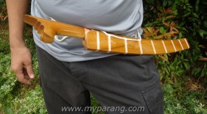how to wear the long parang