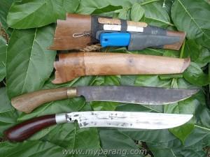 my kelantan parang and golok collection