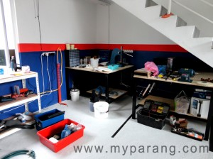 kydex workshop area