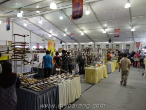 Hall C where most of the knife makers are