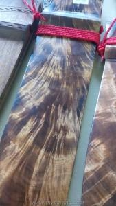 Acacia wood parang sheath