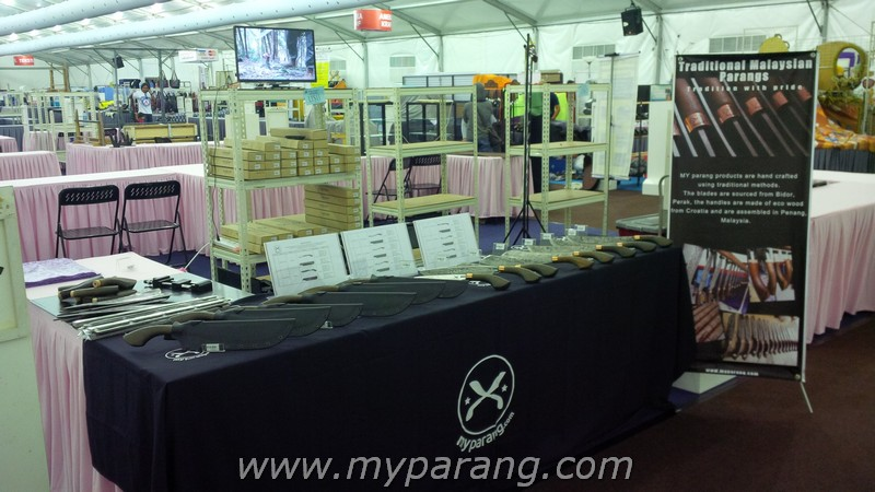 Our humble table during the 2016 HKK