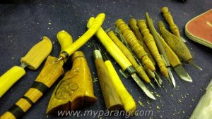 A traditional set of carving tools