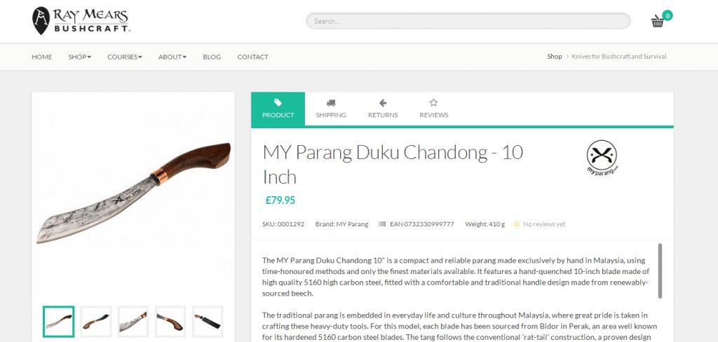 my parang sold by ray mears